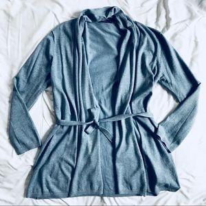ZARA open front front cardigan dusty blue SZ M